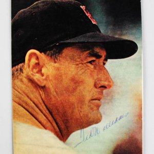 Boston Red Sox Ted Williams Signed 8x10 Color Magazine Photo - JSA Full LOA