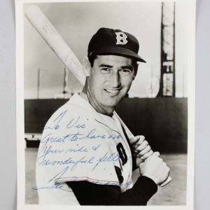 Boston Red Sox - Ted Williams Signed & Inscribed 8x10 Photo - JSA Full LOA