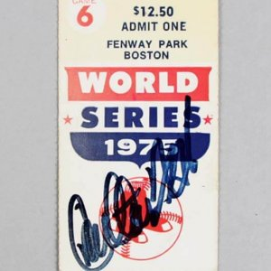 1975 Boston Red Sox - World Series - Carlton Fisk Signed Game 6 Home Run Ticket - JSA Full LOA