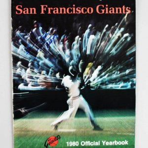 1980 San Francisco Giants - Willie Mays Signed Yearbook - JSA