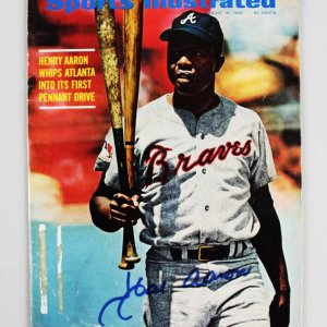 1969 Atlanta Braves - Hank Aaron Signed Sports Illustrated Magazine - JSA