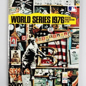 1976 World Series Signed Program - Catfish Hunter & Joe Morgan - JSA