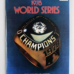 1978 World Series Program Signed by Steve Garvey, Catfish Hunter & Steve Carlton - JSA