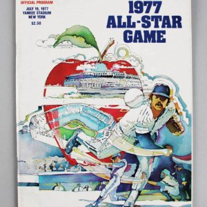 1977 All-Star Game Signed Program - Steve Carlton, Joe Morgan & Steve Garvey - JSA