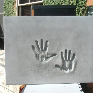 Christopher McDonald Signed & Inscribed Original Cast of Concrete Handprint by Artist Franco Vecchio