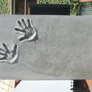 Jackie Chan Signed & Inscribed Original Cast of Concrete Handprint by Artist Franco Vecchio