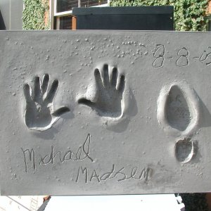 Michael Madsen Signed & Inscribed Original Cast of Concrete Handprint by Artist Franco Vecchio