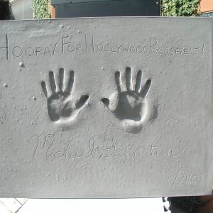 Michael Feinstein Signed & Inscribed Original Cast of Concrete Handprint by Artist Franco Vecchio