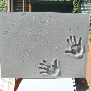 William Shatner Signed & Inscribed Original Cast of Concrete Handprint by Artist Franco Vecchio