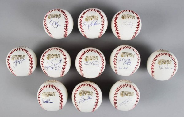 2007 Boston Red Sox Signed World Series Baseballs (11) Lot - John Henry, Johnny Pesky etc.- JSA