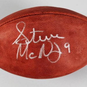 Tennessee Titans - Steve McNair & Kevin Dyson Signed Football - JSA