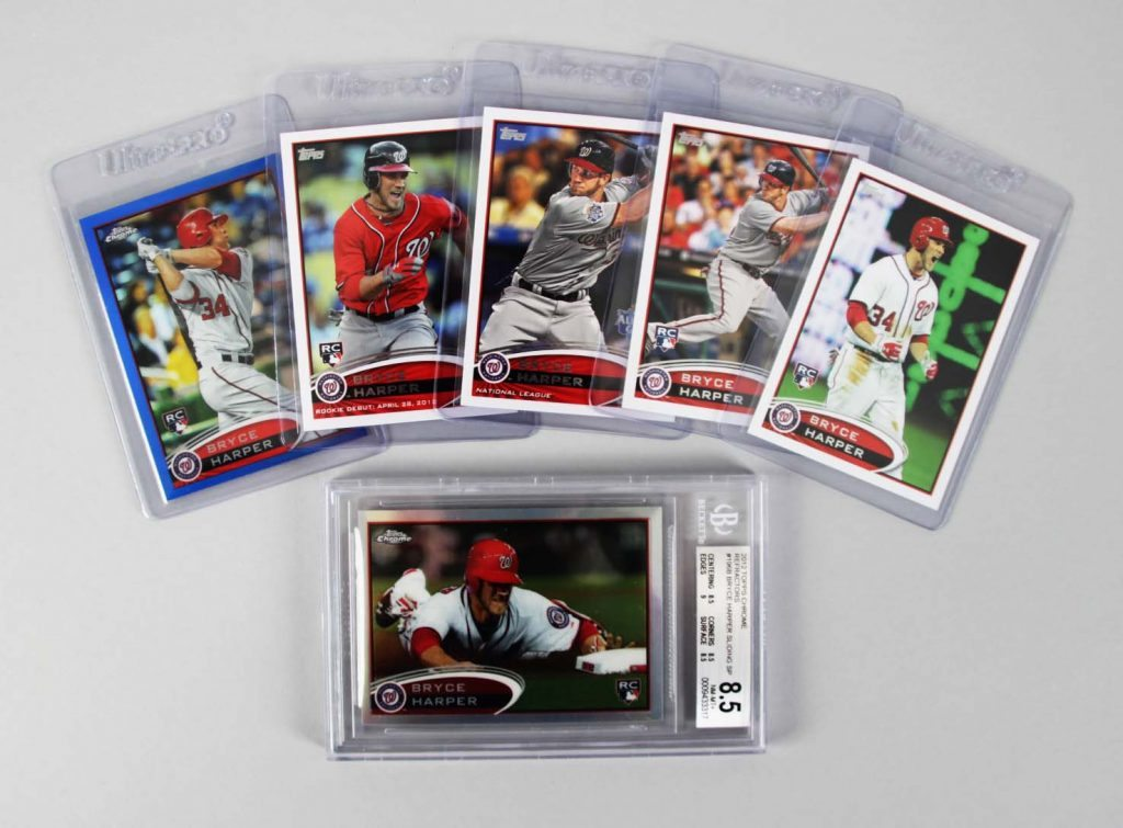 2012 Topps Chrome Nationals Bryce Harper Refractor Sliding Sp Bgs Graded 5 Other Rookie Card Lot