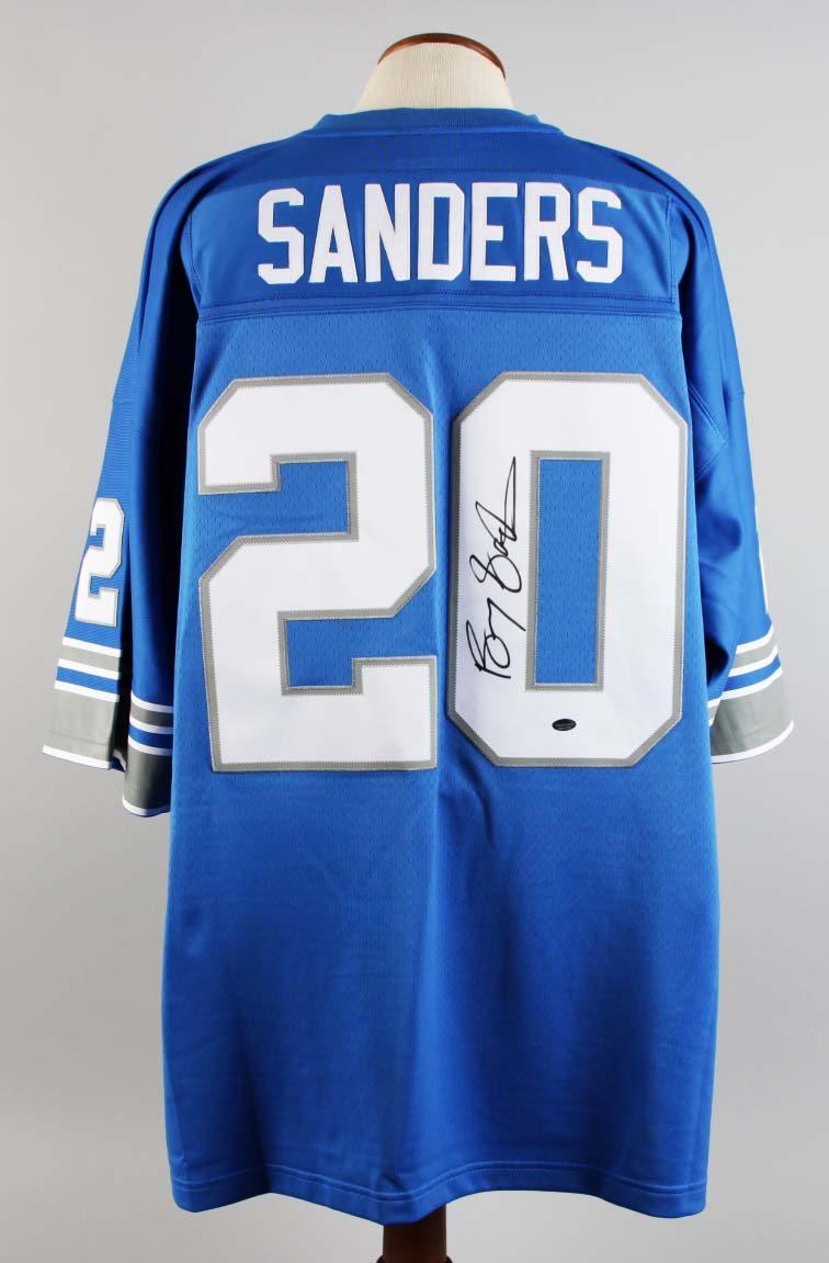 super popular 40027 26d62 Detroit Lions - Barry Sanders Signed Mitchell & Ness Jersey DC SPORTS COA