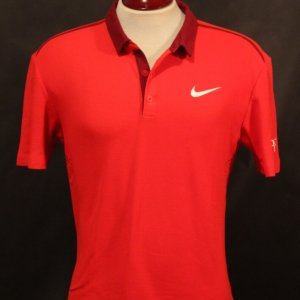 A Roger Federer Game-Used Custom Nike Tennis Shirt.  2015 ATP Brisbane International Final (Men's Singles Champion).  Includes Signed Card.