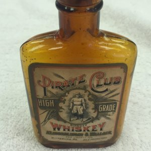 1940s John L. Sullivan Boxing Whiskey Bottle & Stopper