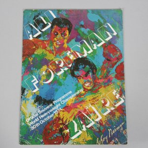 "October 30, 1974 - ""The Rumble in the Jungle"" Muhammad Ali vs. George Foreman Original Closed Circuit Program Kinshasa, Zaire (LeRoy Neiman Cover Art)"