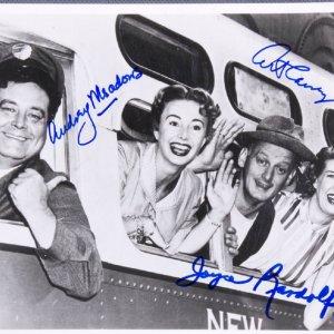 Honeymooners Signed Cast 8x10 Photo Art Carney, Joyce Randolph & Audrey Meadows