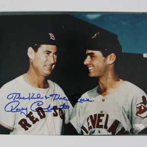 Cleveland Indians Rocky Colavito Signed, Inscribed 8x10 Photo - (Mounted Memories)