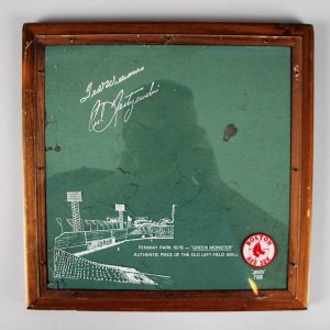 1976 Boston Red Sox Authentic Piece of the Old Left Field Wall aka The Green Monster
