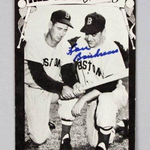 Boston Red Sox Lou Boudreau Signed TCMA Greats Postcard - COA