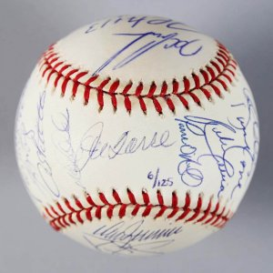 1996 New York Yankees - World Series Champs Team-Signed OWS LE 6/125 Baseball - 26 Sigs.- Jeter R.O.Y etc. - COA Steiner