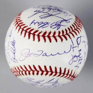 2005 NY Yankees Team Signed OML Baseball -31 Sigs.- Jeter, Torre etc. - COA Steiner