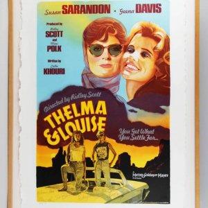 Thelma & Louise Oversized Art Poster Print Signed by Susan Sarandon, Geena Davis, Ridley Scott etc. JSA