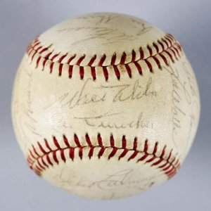1963 WS Champs LA Dodgers Team-Signed Baseball -26 Sigs.- Koufax, Drysdale etc. - JSA