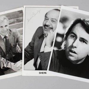 1970's TV Stars Signed 8x10 Photos - John Ritter, Sherman Hemesley & Wayne Rogers - JSA