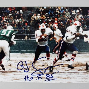 Buffalo Bills - O.J. Simpson Signed & Inscribed 8x10 Photo - COA