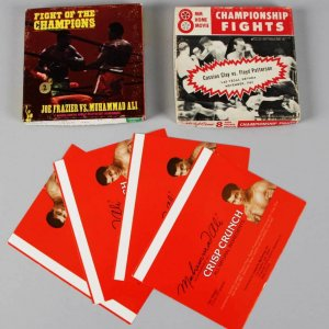 Muhammad Ali Lot - (2) 8mm Home Movie Championship Fights & (4) Crisp Crunch Wrappers