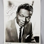 "500 Night Club Nat ""King"" Cole Signed & Liberace Inscribed 8×10 BW Photo & Others – JSA"