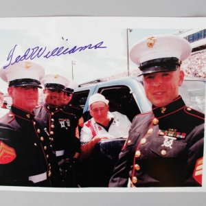 Boston Red Sox Ted Williams Signed Color 8x10 Photo - JSA