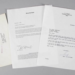 "1983 Ted Williams Signed ""Frank Sinatra"" Letter - JSA"