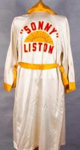 Championship Boxing - Cassius Clay (Muhammad Ali) vs. Sonny Liston - Liston's Game / Fight Worn Robe - Worn at '64 & '65 Weigh-In ( '65 Phantom Punch Fight) (Notarized LOA & Video Photo Match)