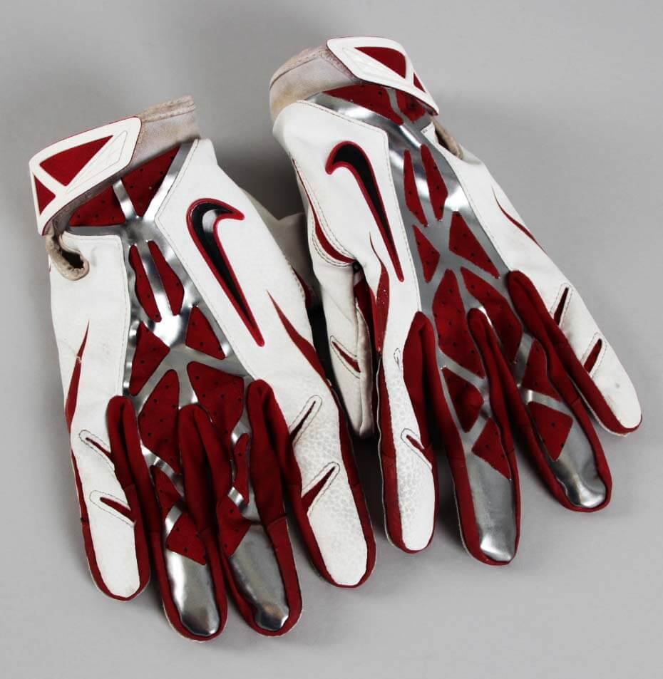 6ae49640d75b Arizona Cardinals – Larry Fitzgerald Game-Worn Used Gloves ...