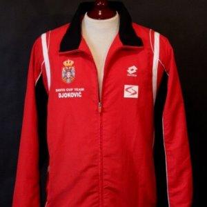 A Novak Djokovic Game-Used Custom Serbia Jacket.  2010 Davis Cup (Champions).