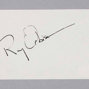 "Singer ""The Big O"" - Roy Orbison Signed 3x5 Index Card - JSA Full LOA"