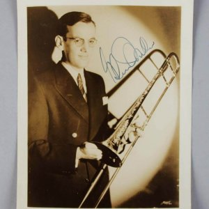Big Band Musician Glenn Miller Signed 5x7 Vintage Photo - JSA Full LOA