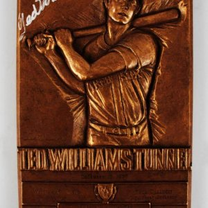 """Boston Red Sox Ted Williams Signed """"Ted Williams Tunnel"""" Presentation Plaque - JSA Full LOA"""