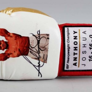 IBF Heavyweight Champ - Anthony Joshua Signed Boxing Glove - COA JSA