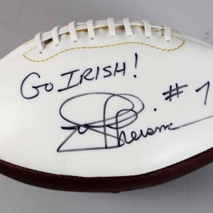 Notre Dame Fighting Irish Joe Theismann Signed & Inscribed Football - COA JSA