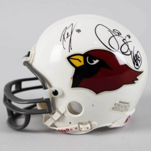 Arizona Cardinals Multi-Signed Mini Helmet - Pat Tillman & Others- JSA Full LOA