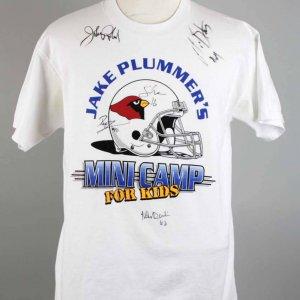 Arizona Cardinals Signed T-Shirt W/ 10 Sigs. - Pat Tillman etc. - JSA Full LOA