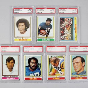 1974 Topps Football PSA Graded Cards NM-MT 8 Lot (7) Merlo, Chester, Winfield etc.