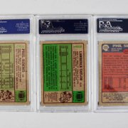 New York Giants PSA Graded Topps Card Lot (3) - 1984 & '85 Phil Simms & '84 Lawrence Taylor