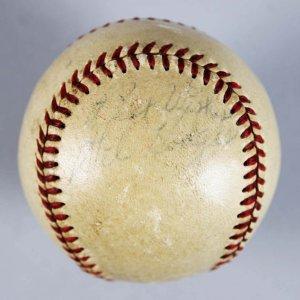 Brooklyn Dodgers Gil Hodges Signed & Inscribed ONL Baseball - JSA Full LOA