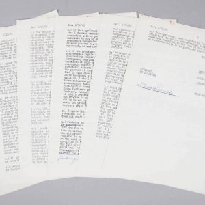 1962 New York Yankees - Roger Maris Signed Ed Sullivan Show Contract - JSA Full LOA