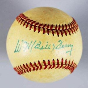 NY Giants -HOFer- Bill Terry Signed (Full Name) ONL Baseball - JSA Full LOA