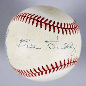 NY Yankees -HOFer- Bill Dickey Signed OAL Baseball - JSA Full LOA